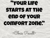 Chris Powell Comfort Zone quote