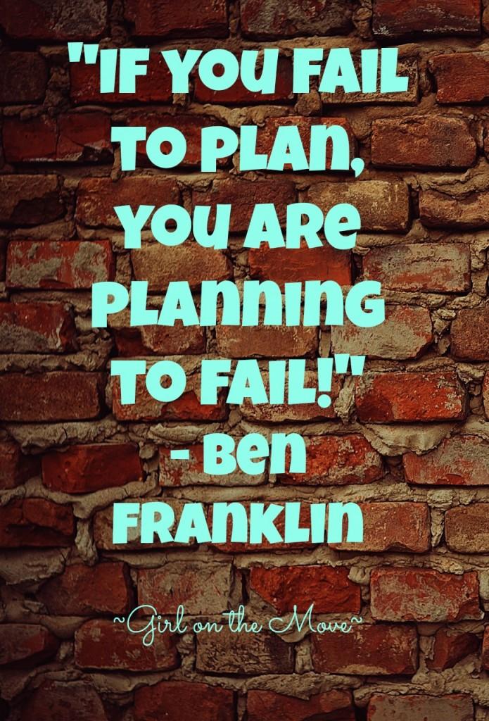 Fail to Plan Ben Franklin #quote #socialmedia