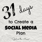 Create a Social Media plan #write31days #blogging