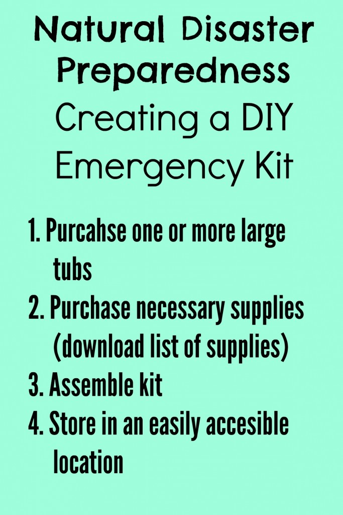 Create an emergency kit for Southern California natural disasters