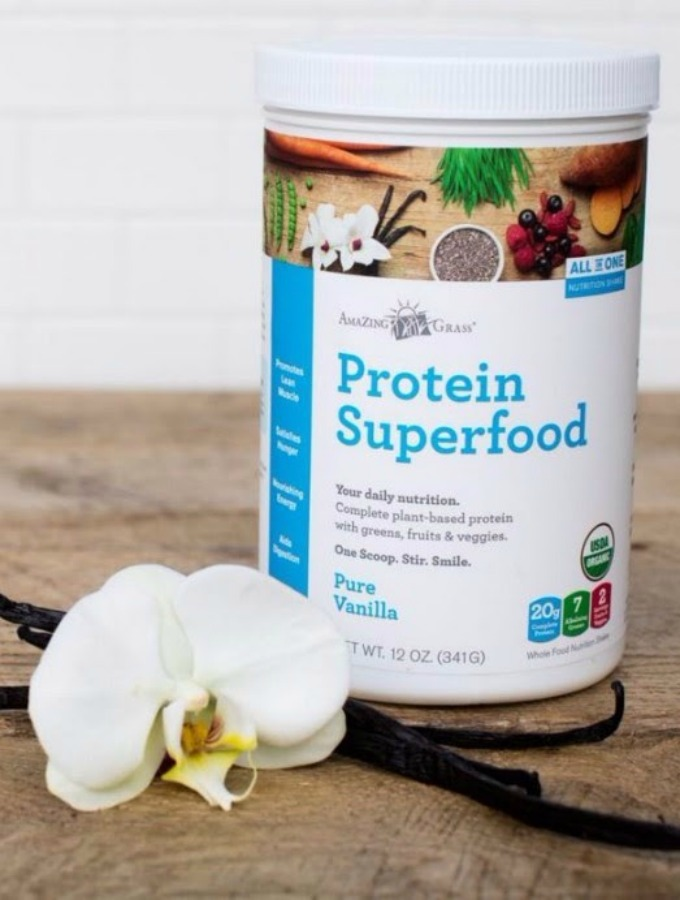 Amazing Grass' protein superfood helps you make sure you are eating a diet filled with proteins and lots of fruits and veggies