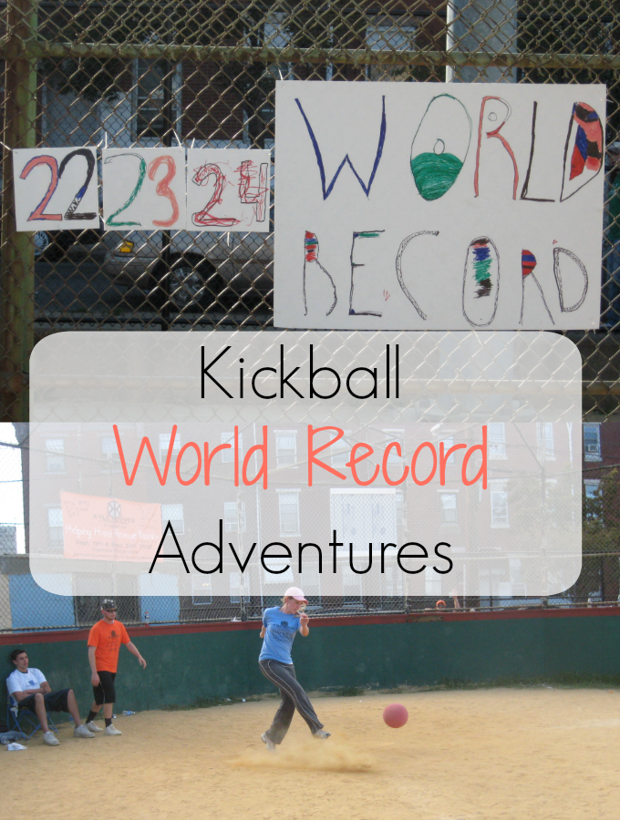 The adventures of Girl on the Move continue with setting a crazy Guinness kickball world record thanks to a creative group of philanthropic people.