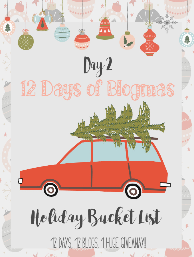 A holiday bucket list for your Christmas season filled with things to do and adventures to take with friends and family